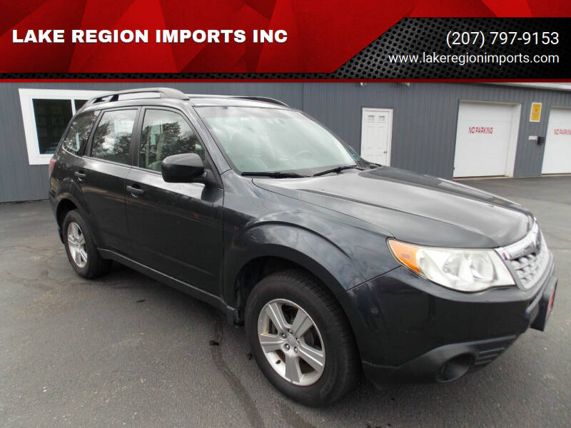 2012 Subaru Forester for sale at LAKE REGION IMPORTS INC in Westbrook ME