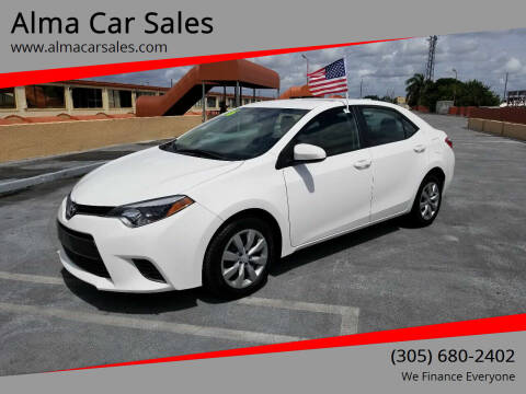 2016 Toyota Corolla for sale at Alma Car Sales in Miami FL