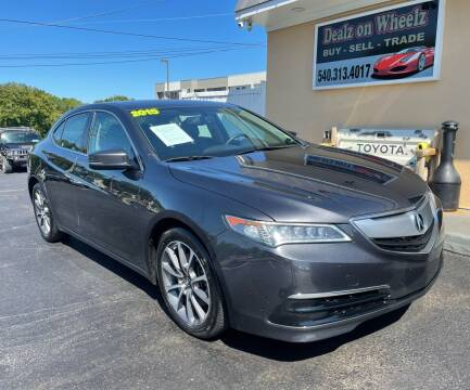 2015 Acura TLX for sale at DEALZ ON WHEELZ in Winchester VA