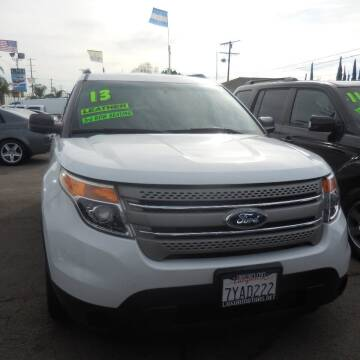 2013 Ford Explorer for sale at Luxor Motors Inc in Pacoima CA