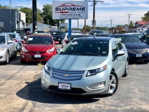 2012 Chevrolet Volt for sale at Supreme Auto Sales in Chesapeake VA