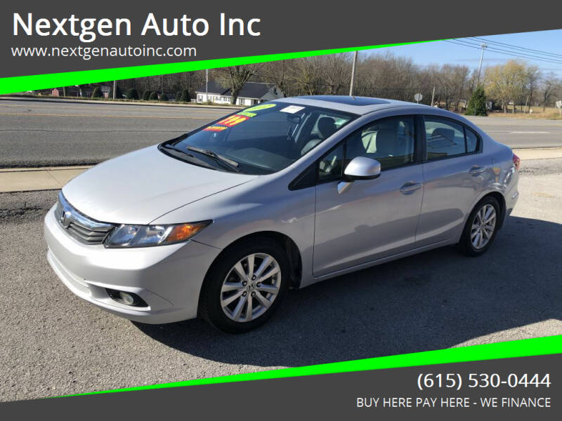 2012 Honda Civic for sale at Nextgen Auto Inc in Smithville TN