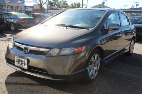 2008 Honda Civic for sale at Grasso's Auto Sales in Providence RI