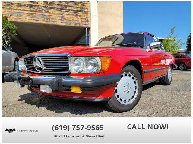 1989 Mercedes-Benz 560-Class for sale at INVESTAMOBILE in San Diego CA