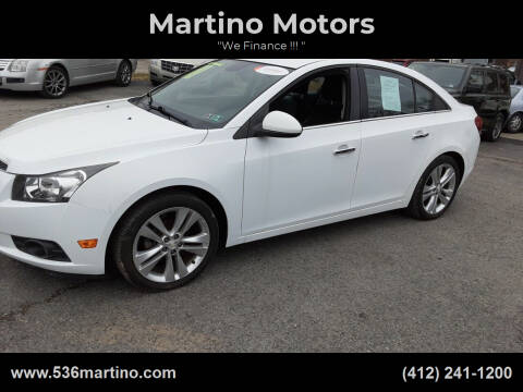 2014 Chevrolet Cruze for sale at Martino Motors in Pittsburgh PA