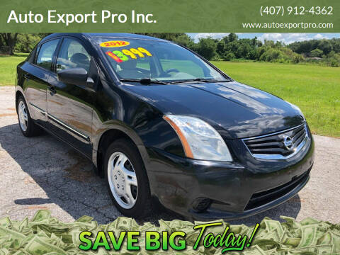 2012 Nissan Sentra for sale at Auto Export Pro Inc. in Orlando FL