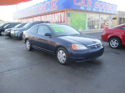 2002 Honda Civic for sale at CAR SOURCE OKC in Oklahoma City OK