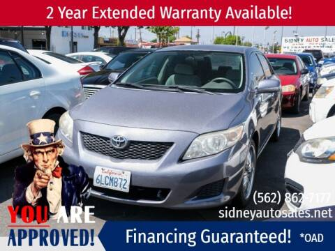 2010 Toyota Corolla for sale at Sidney Auto Sales in Downey CA