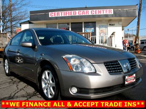 2004 Nissan Maxima for sale at CERTIFIED CAR CENTER in Fairfax VA