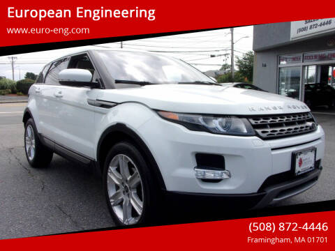 2013 Land Rover Range Rover Evoque for sale at European Engineering in Framingham MA