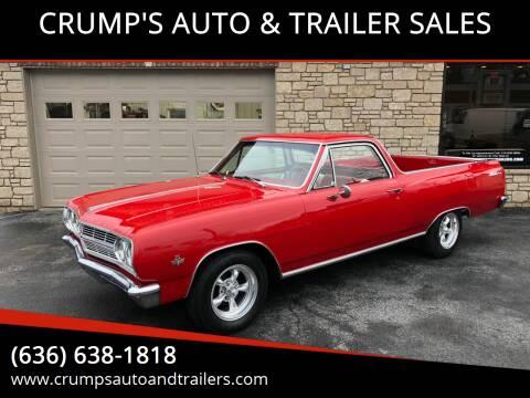 1965 Chevrolet El Camino for sale at CRUMP'S AUTO & TRAILER SALES in Crystal City MO