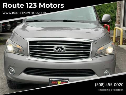 2012 Infiniti QX56 for sale at Route 123 Motors in Norton MA