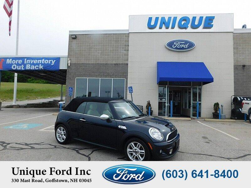 2012 MINI Cooper Convertible for sale at Unique Motors of Chicopee - Unique Ford in Goffstown NH