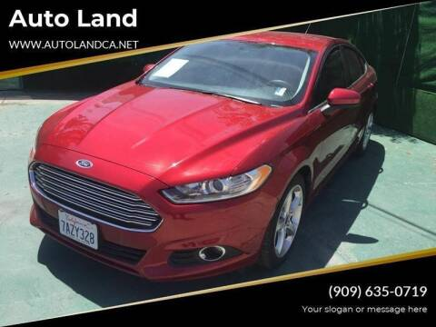 2016 Ford Fusion for sale at Auto Land in Ontario CA