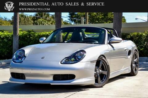 2001 Porsche Boxster for sale at Presidential Auto  Sales & Service in Delray Beach FL