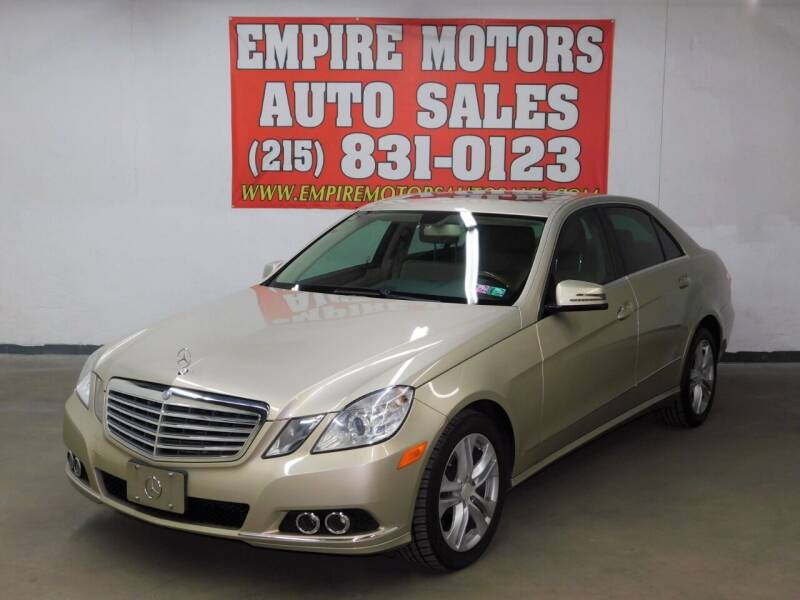 2010 Mercedes-Benz E-Class for sale at EMPIRE MOTORS AUTO SALES in Philadelphia PA