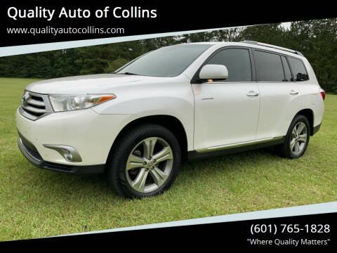 2012 Toyota Highlander for sale at Quality Auto of Collins in Collins MS