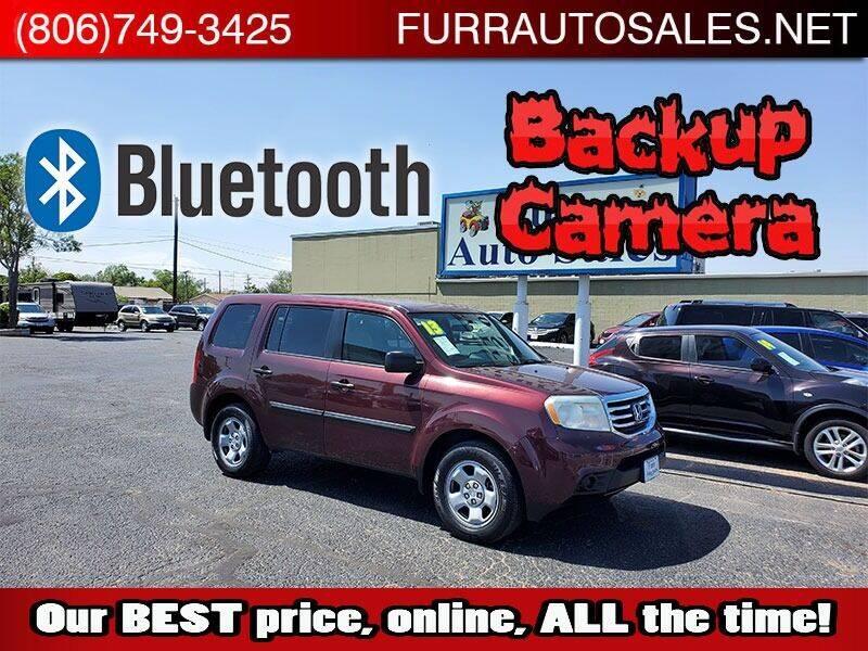 2013 Honda Pilot for sale at FURR AUTO SALES in Lubbock TX