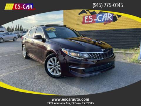 2016 Kia Optima for sale at Escar Auto - 9809 Montana Ave Lot in El Paso TX