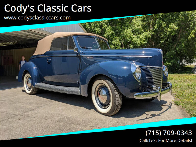 1940 Ford Deluxe for sale at Cody's Classic Cars in Stanley WI