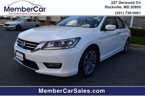 2013 Honda Accord for sale at MemberCar in Rockville MD