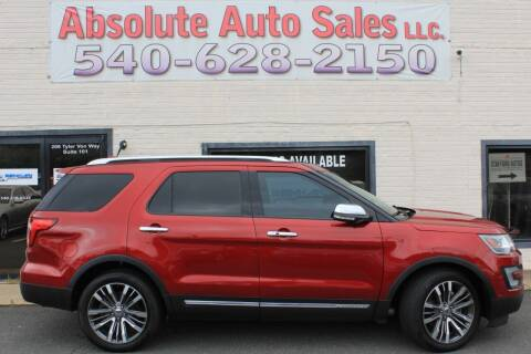 2016 Ford Explorer for sale at Absolute Auto Sales in Fredericksburg VA