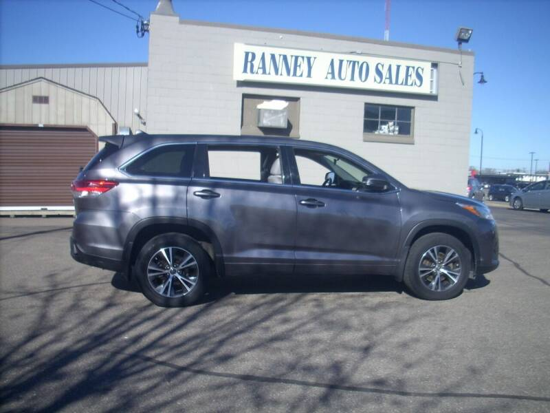 2017 Toyota Highlander for sale at Ranney's Auto Sales in Eau Claire WI
