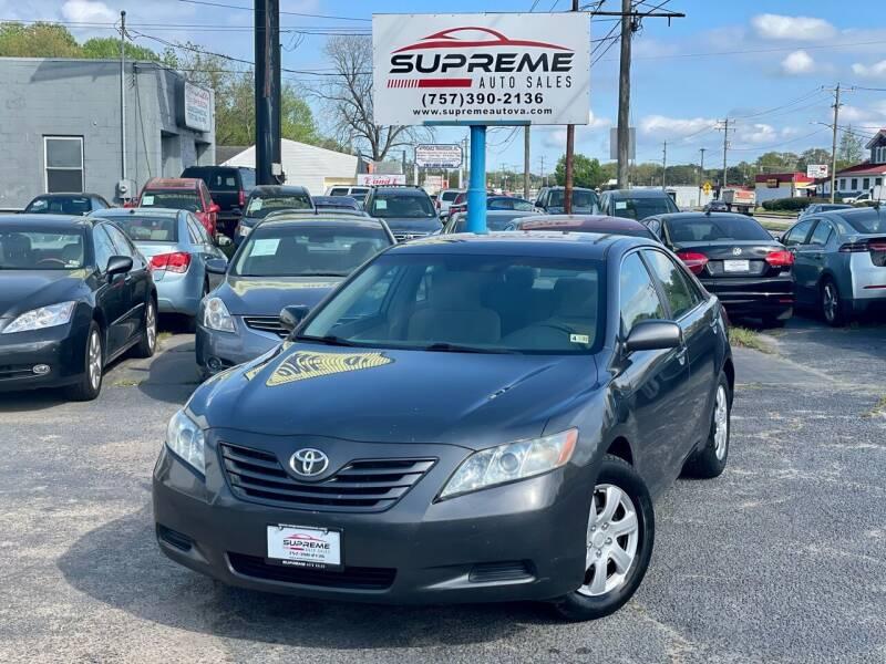 2007 Toyota Camry for sale at Supreme Auto Sales in Chesapeake VA
