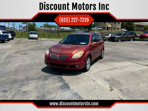 2005 Pontiac Vibe for sale at Discount Motors Inc in Nashville TN