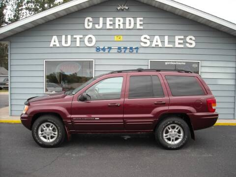 2000 Jeep Grand Cherokee for sale at GJERDE AUTO SALES in Detroit Lakes MN