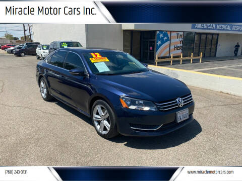 2012 Volkswagen Passat for sale at Miracle Motor Cars Inc. in Victorville CA