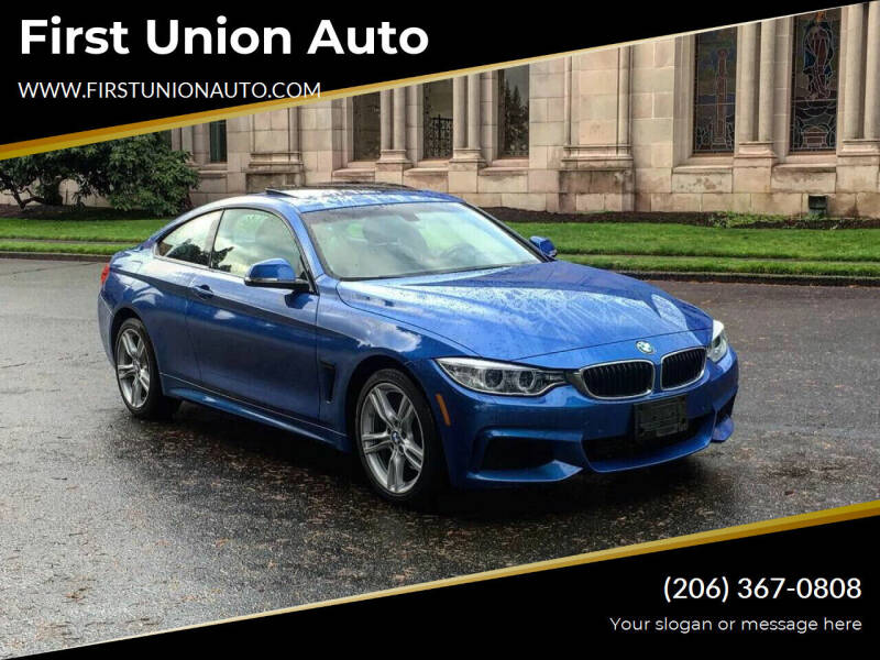 2015 BMW 4 Series for sale at First Union Auto in Seattle WA