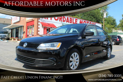 2014 Volkswagen Jetta for sale at AFFORDABLE MOTORS INC in Winston Salem NC