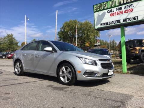2016 Chevrolet Cruze Limited for sale at Giguere Auto Wholesalers in Tilton NH