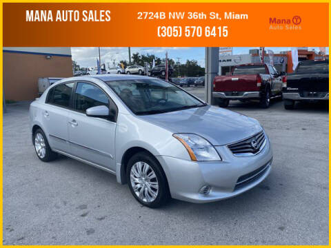 2012 Nissan Sentra for sale at MANA AUTO SALES in Miami FL
