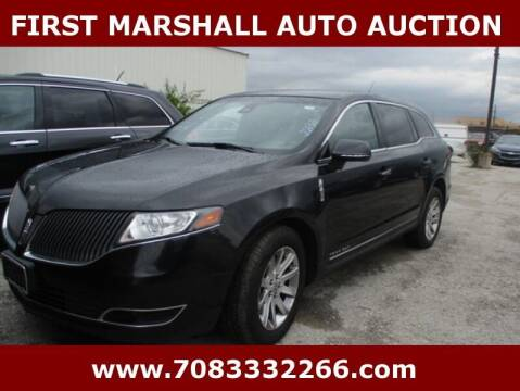 2015 Lincoln MKT Town Car for sale at First Marshall Auto Auction in Harvey IL