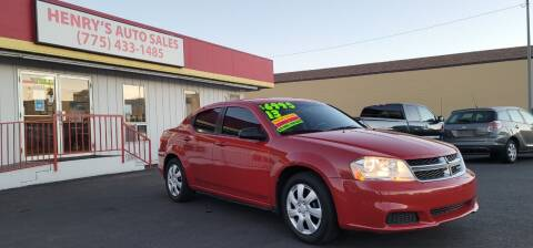 2013 Dodge Avenger for sale at Henry's Autosales, LLC in Reno NV