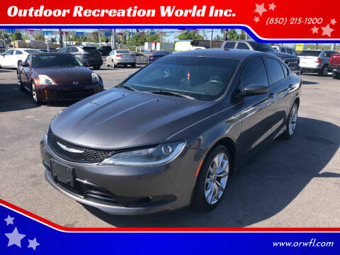 2015 Chrysler 200 for sale at Outdoor Recreation World Inc. in Panama City FL