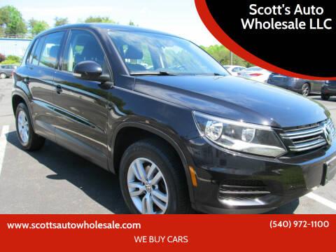 2013 Volkswagen Tiguan for sale at Scott's Auto Wholesale LLC in Locust Grove VA