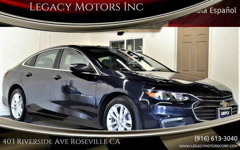2016 Chevrolet Malibu for sale at Legacy Motors Inc in Roseville CA