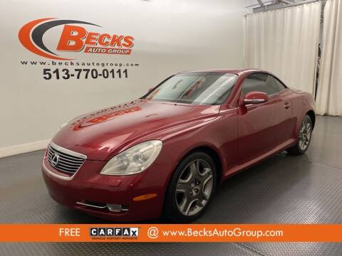 2006 Lexus SC 430 for sale at Becks Auto Group in Mason OH