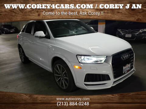 2018 Audi Q3 for sale at WWW.COREY4CARS.COM / COREY J AN in Los Angeles CA