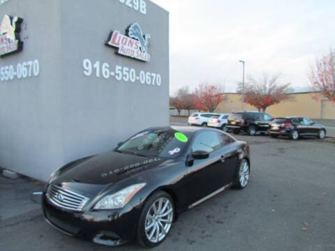 2008 Infiniti G37 for sale at LIONS AUTO SALES in Sacramento CA
