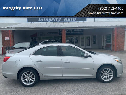 2013 Chevrolet Malibu for sale at Integrity Auto LLC in Sheldon VT