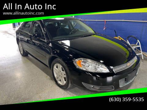 2008 Chevrolet Impala for sale at All In Auto Inc in Addison IL