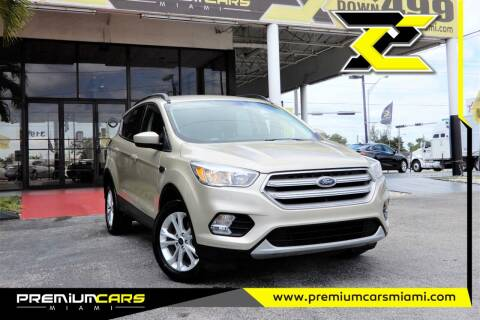 2018 Ford Escape for sale at Premium Cars of Miami in Miami FL