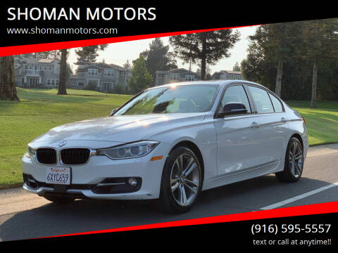 2013 BMW 3 Series for sale at SHOMAN MOTORS in Davis CA