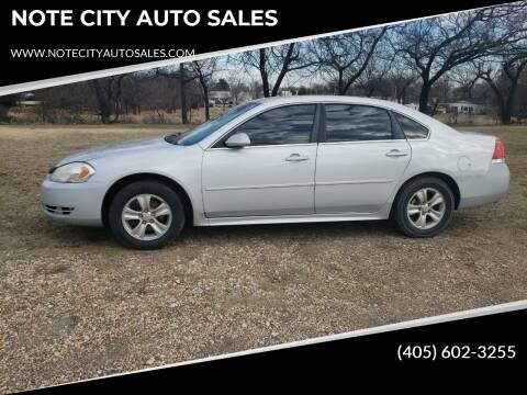 2012 Chevrolet Impala for sale at NOTE CITY AUTO SALES in Oklahoma City OK
