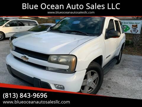 2002 Chevrolet TrailBlazer for sale at Blue Ocean Auto Sales LLC in Tampa FL