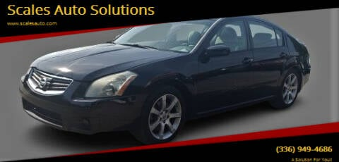 2007 Nissan Maxima for sale at Scales Auto Solutions in Madison NC